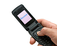 Mobile phone with Stock Photos