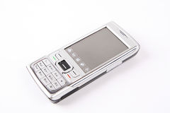 Mobile phone. Modern mobile phone isolated with white background royalty free stock photography
