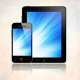 Mobile phone and abler pc Royalty Free Stock Photo