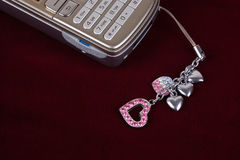 Mobile phone accessories Stock Images