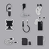 Mobile phone accessories Stock Image