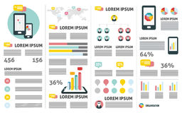 Mobile phone analysis. flat info graphic Stock Photo