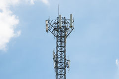 Mobile phone antenna tower Royalty Free Stock Images