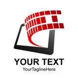 Mobile Phone App Center Logo Design Template Vector. Illustrator Stock Photos
