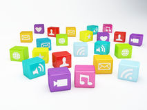 Mobile phone app icon. Software concept Royalty Free Stock Images