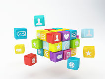 Mobile phone app icon. Software concept Royalty Free Stock Photos