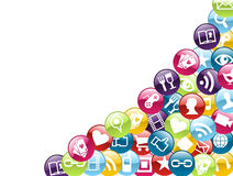 Mobile phone app icons background Stock Images