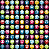 Mobile phone app icons background Royalty Free Stock Photography