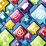 Mobile phone app icons background Royalty Free Stock Photo
