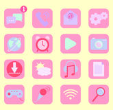 Mobile phone app icons Royalty Free Stock Image