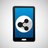 Mobile phone app sharing icon Royalty Free Stock Photos