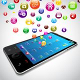 Mobile Phone Application Royalty Free Stock Photo
