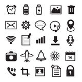 Mobile Phone and Application Icons Set Stock Image