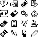 Mobile Phone Applications GUI. A vector Mobile Phone Applications GUI Icon Series Set royalty free illustration