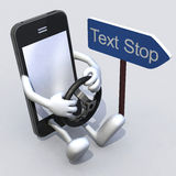 Mobile phone with arms and legs driver Royalty Free Stock Image
