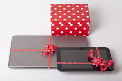 Mobile phone as a gift Stock Photography