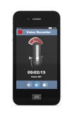 Mobile Phone as Voice Recorder Stock Images