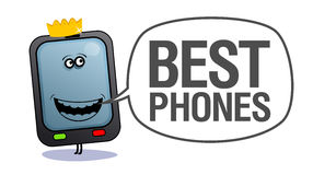 Mobile phone, best phones. Royalty Free Stock Image