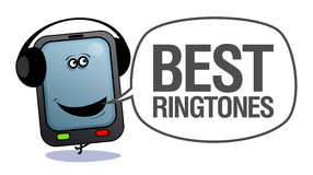 Mobile phone, best ringtones. Stock Image