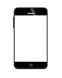 Mobile phone black Royalty Free Stock Images