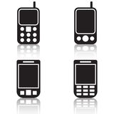 Mobile phone black vector icons Royalty Free Stock Photography