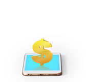 Mobile phone with  blank screen Royalty Free Stock Image