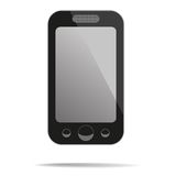 Mobile phone with blank screen. Vector illustration Stock Photography