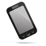 Mobile phone with blank screen. Stock Image