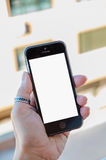 Mobile phone blank touch screen Royalty Free Stock Photo