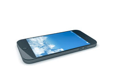 Mobile phone with a blue sky Royalty Free Stock Image
