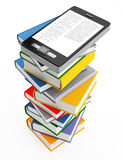 Mobile phone and books Stock Photography
