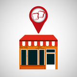 Mobile phone bread shop locator Royalty Free Stock Photography