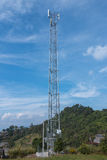 Mobile Phone Broadcasting Antenna at upcountry of Thailand Royalty Free Stock Photo