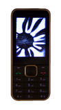 Mobile phone with a broken LCD display Stock Image