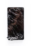 Mobile phone with broken screen Royalty Free Stock Images