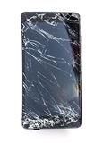 Mobile phone with broken screen stock photo
