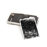 Mobile phone broken Stock Image