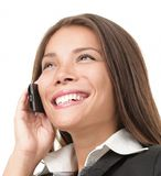 Mobile phone business woman Royalty Free Stock Images