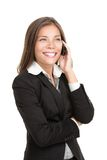 Mobile phone businesswoman Royalty Free Stock Images