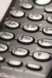 Mobile phone buttons. Mobile phone closeup of buttons Stock Photo