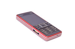 Mobile phone with camera. Modern mobile phone with camera isolated on white Royalty Free Stock Photos