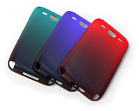 Mobile phone cases Royalty Free Stock Photography