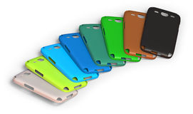 Mobile phone cases Royalty Free Stock Image