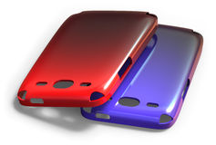 Mobile phone cases Stock Photography