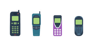 Mobile phone cellphone vector illustration. Royalty Free Stock Photos