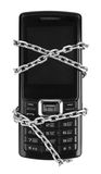 Mobile phone with chain Stock Photo