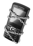 Mobile phone with chain Stock Image