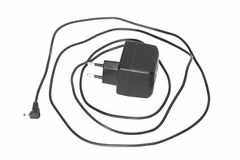 Mobile phone charger. On a white background Stock Photo