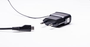 Mobile phone charger Royalty Free Stock Photos