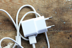 Mobile phone charger Royalty Free Stock Images